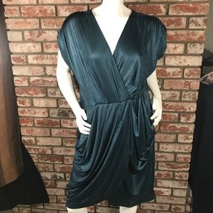 Forever 21 plus sizes women's dress 3x green